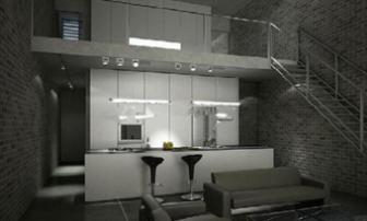 Two Storey Home Kitchen Room Scene