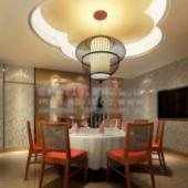 Interior Restaurant Night Scene