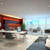 Corporate Office Interior Space Free 3dmax Model