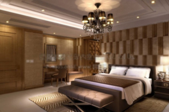Hotel rooms interior scene free 3dmax model free download for Dining room 3d max interior scenes