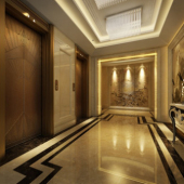 Elevator Interior Space Free 3dmax Model