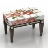 Flowers Bench Free 3dmax Model Furniure