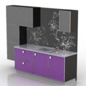 Black Cupboard Cabinet Free 3dmax Model