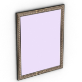Rectangle Mirror Frame Free 3dmax Model