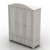 White Wardrobe Free 3dmax Model