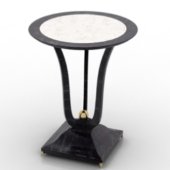 European Table Furniture 3dmax Model
