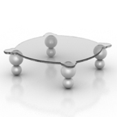 Glass Coffee Table Free 3dmax Model