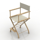 Wooden Bar Chair Free 3dmax Model