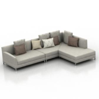 Home Living Room Sofa Free 3dmax Model
