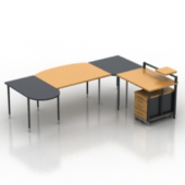Office Working Desk Furniture 3dmax Model