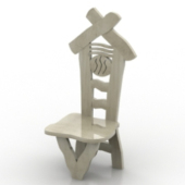 Creative Small Wooden Chair Free 3dmax Model
