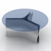 Glass Coffee Table Free 3dmax Model Furniture
