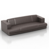 Living Room Leather Sofa Free 3dmax Model
