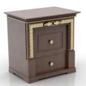 Wooden Bedside Cabinet 3dMax Model