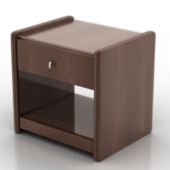 European Dark Brown Bedside Tables