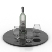 Wine Glass Composition Free 3dmax Model