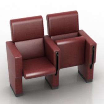 Cinema Seats Furniture Free 3dmax Model Free Download - No3008 Zip