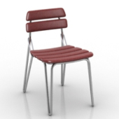 Simple Red Chair Free 3dmax Model Furniture