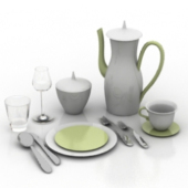 Tableware Set Free 3dmax Model