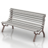 Silver Bench Free 3dmax Model