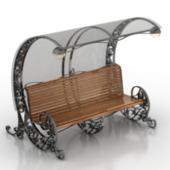 VIntage Design Street Bench Free 3dmax Model