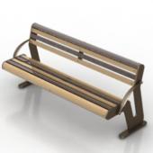 Wood Metal Park Bench