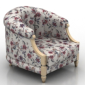 Fabric Armchair Free 3dmax Model Furniture