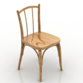 Wooden Common Chair Free 3dmax Model