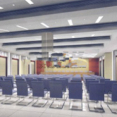 Conference Room Interior Scene Free 3dmax Model