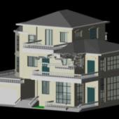Classic Villa Building Free 3dmax Model