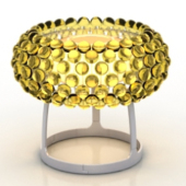 Golden Small Table Lamp Free 3dmax Model