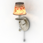 Floral Wall Lamp Decor Free 3dmax Model