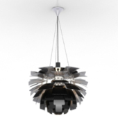 Flake Ceiling Lighting Lamp Free 3dmax Model