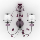 Purple Wall Lamp
