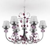 Violet Chandelier Lamp Free 3dmax Model
