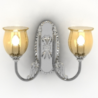 Palace Warm Chandelier Free 3dmax Model