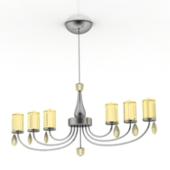 Yellow Luxury Chandelier Free 3dmax Model