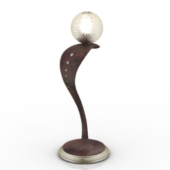 Unique Shape Table Lamp Free 3dmax Model