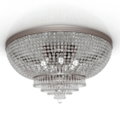 Round Bright Ceiling Lamp Free 3dmax Model