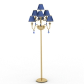 Noble Blue Floor Lamp Free 3dmax Model
