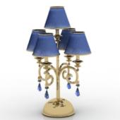 Blue Fine Hotel Lamp Free 3dmax Model