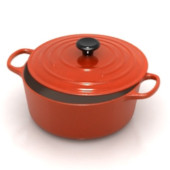 Red Creative Cooker Free 3dmax Model