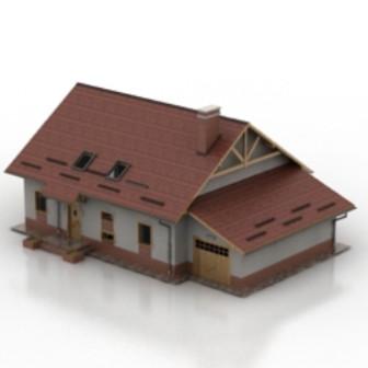 Red Brick Villa Free 3dmax Model