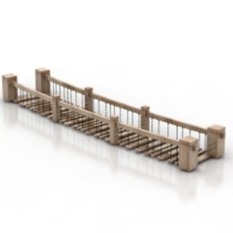Free 3dmax Model Wooden Bridges