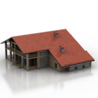 Red Brick Villa Free 3dmax Model