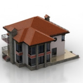 Outdoor Luxury Villa Free 3dmax Model