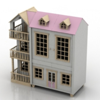 Pink Romantic Villa Free 3dmax Model