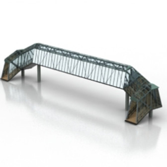 Free 3dmax Model Of Iron Girder Bridge