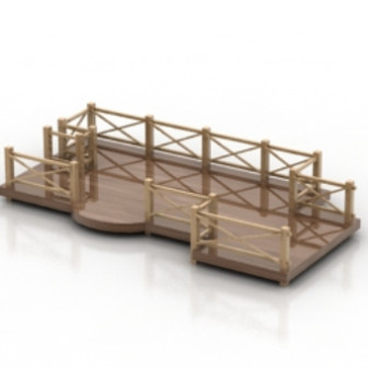 Free 3dmax Model Of Park Decorative Bridges