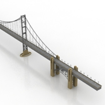 Free 3dmax Model Viaducts Bridge